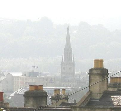 The photo of the top of St Michael's church