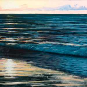 Baltic sea scene painted by bath-based contemporary artist david ringsell