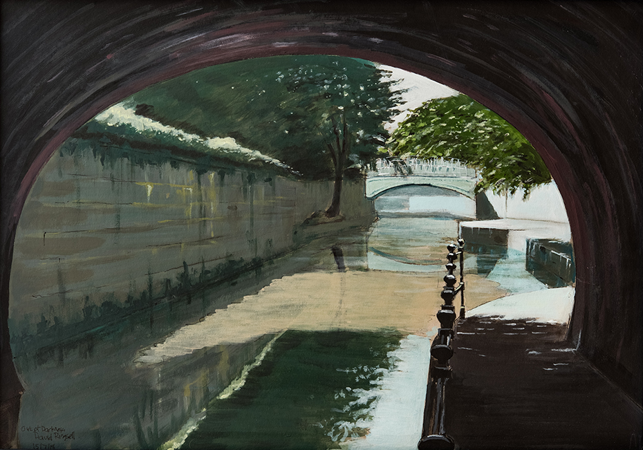 canal scene painted by bath-based contemporary artist david ringsell