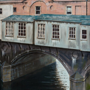 bridge scene painted by bath-based contemporary artist david ringsell