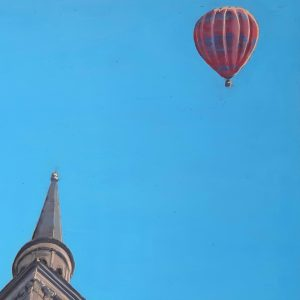 church scene painted by bath-based contemporary artist david ringsell