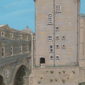 contemporary giclée art print of bath scene by david ringsell