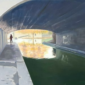 contemporary giclée art print of bath scene by david ringsell